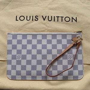 Louis Vuitton Neverfull MM Damier Azur Wristlet